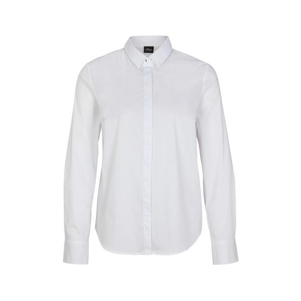 Bluse aus Baumwollmix - Stretchbluse
