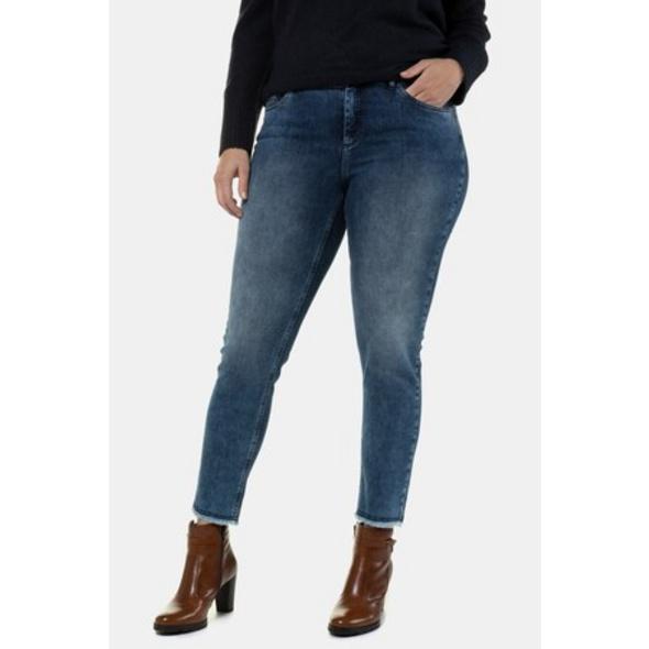 Ulla Popken Jeans Sarah, Fransensaum, schmale 5-Pocket-Form - Große Größen