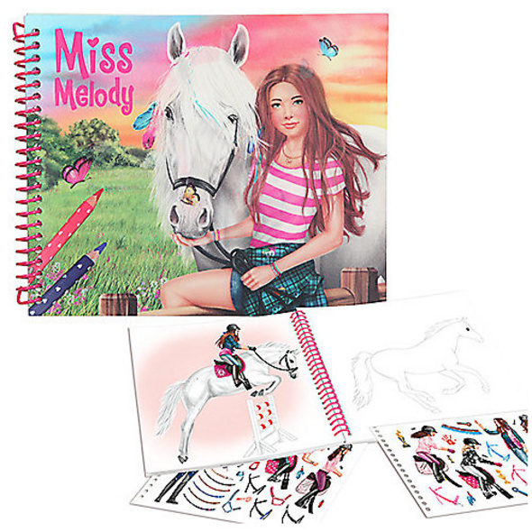 Miss Melody Dress up your Horse Malbuch
