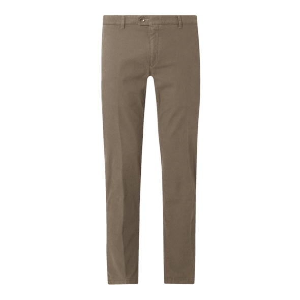 Modern Fit Chino hohem Stretch-Anteil Modell 'Felix' - 'Hi-Flex'
