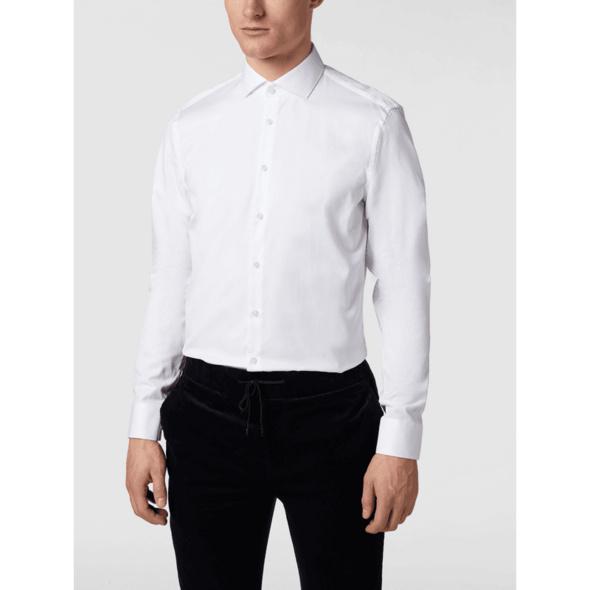 Slim Fit Business-Hemd aus Twill mit extra langem Arm
