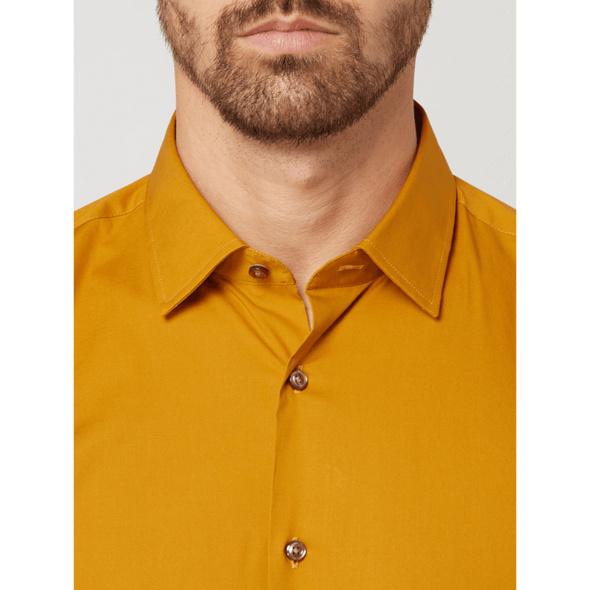 Slim Fit Business-Hemd aus Popeline Modell 'Pierre'