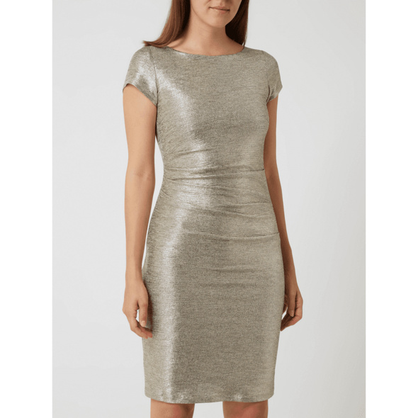 Cocktailkleid in Metallic-Optik
