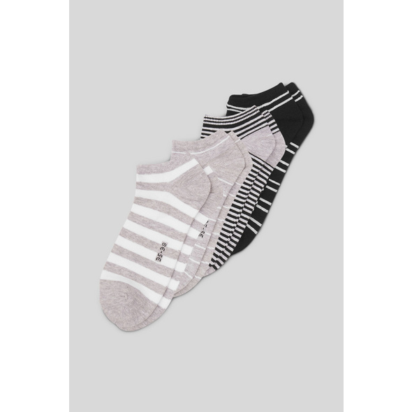 Sneakersocken - Bio-Baumwolle - 4er Pack - gestreift