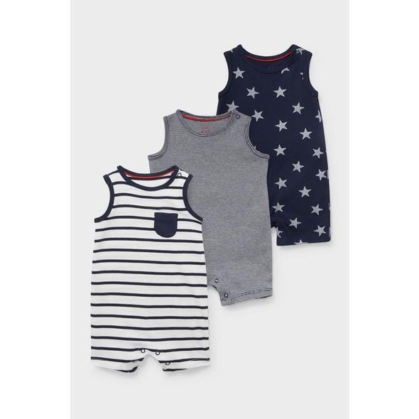 Multipack 3er - Baby-Pyjama - Bio-Baumwolle