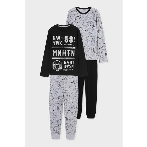 Multipack 2er - Pyjama - Bio-Baumwolle
