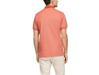 Poloshirt mit Rippbündchen - Poloshirt