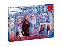3er Set Puzzle, je 49 Teile, 21x21 cm, Frozen 2