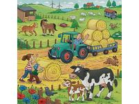 Viel los auf dem Bauernhof, 3 x 49 Teile