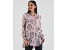 Viskose-Bluse mit Totenkopfdruck