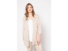 Longjacke, grafisches Jacquard-Muster, selection