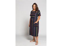 Jerseykleid, Streifen, Oversized, Biobaumwolle