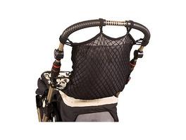 Universalnetz für Kinderwagen, mit Sichtschutz und Anker, schwarz