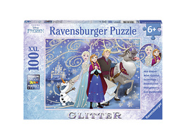 Puzzle, 100 Teile XXL, 49x36 cm, mit Glitzer, Disney Die Eiskönigin