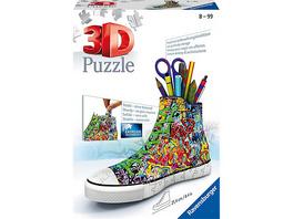 3D-Puzzle Sneaker Utensilo, H12 cm, 108 Teile, Graffiti Style