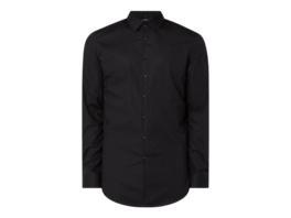 Slim Fit Business-Hemd aus Popeline mit extra langem Arm