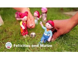 HABA 300516 - Little Friends, Matze, Biegepuppe, Minipuppe, 10cm